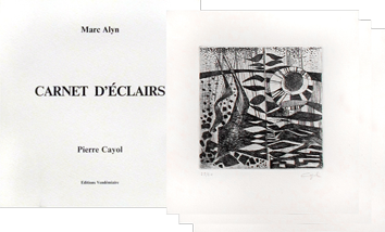 Book with etchings de Cayol Pierre : Carnet d'éclairs