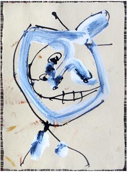 Oeuvre unique signée de  : Composition