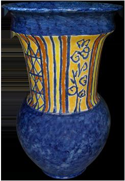 Oeuvre unique signée de  : Vase