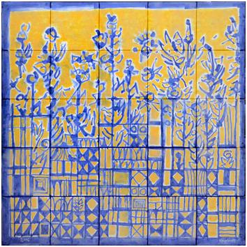 Oeuvre unique signée de  : Azulejos