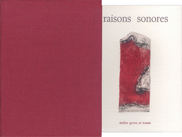 Libro con incisioni de  : Raisons sonores