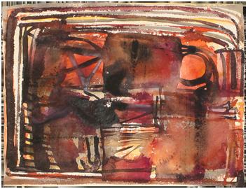 Aquarelle originale signée de  : Composition XXIII
