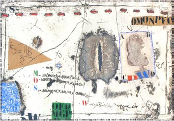 Gravure carborundum signée de  : Perturbation horizontale