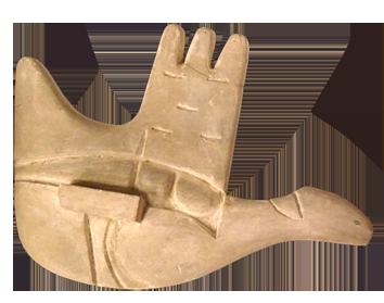 Sculpture de  : Maquette, La main ouverte