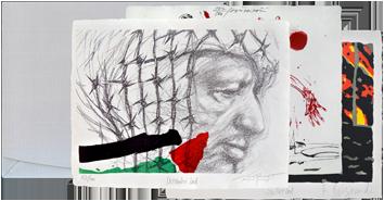 Portfolio avec estampes de  : L'actualité de l'an 2001 vue par . . . II