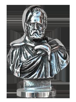 Multiple bronze signé de  : Bouchon autoportrait