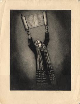 Gravure originale signée de  : Images du malheur V