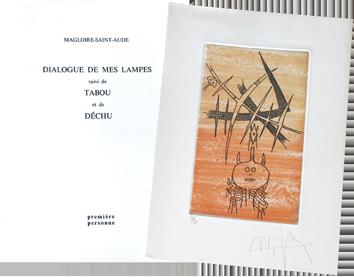 Livre avec gravures de  : Dialogue de mes lampes