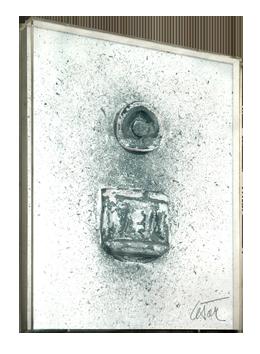 Oeuvre unique signée de  : Hommage à Morandi II