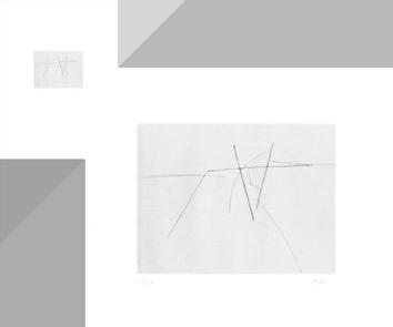 Gravure pointe-sèche signée de  : L'art quitte la terre