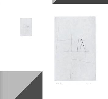 Pointe-sèche originale signée de  : Signe I, n°4
