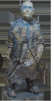 Original signed sculpture de  : The interrogation