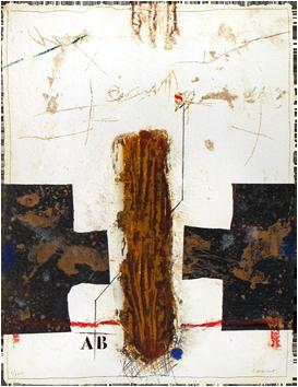 Gravure carborundum signée de  : Inversion, Lettres