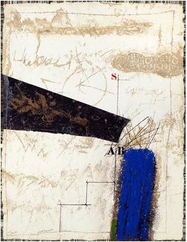 Gravure carborundum originale de  : Connexion, Lettres