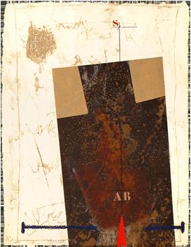 Gravure carborundum signée de  : Oppression, Lettres