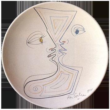 Céramique numérotée de  : Le désir