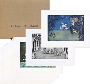 Portfolio with etchings de Bo Lars : Le Lac des Cygnes