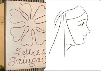 Livre avec lithographies de  : Lettres portugaises