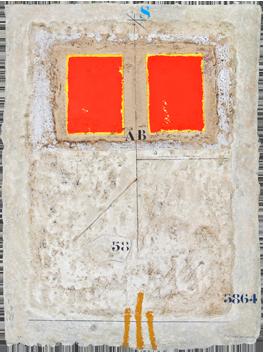 Gravure originale signée de  : Deux rouges - 58