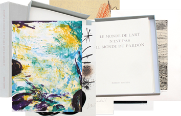 Livre avec lithographies de  : Le Monde de l'Art n'est pas le monde du pardon