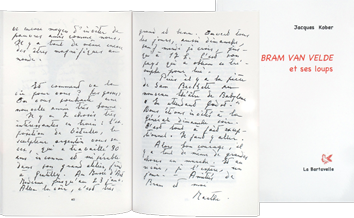 Livre illustré de  : Bram Van Velde et ses loups