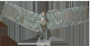 Sculpture originale signée de  : L'homme-oiseau