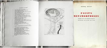 Livre avec gravures de  : Les Métamorphoses de Faust