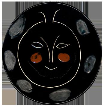 Ceramic de  : Black face, plate J