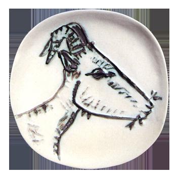 Ceramic de  : Head of goat of profile