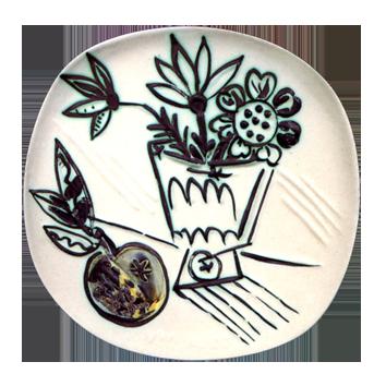 Céramique de  : Bouquet à la pomme