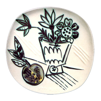 Ceramic de  : Bouquet with apple