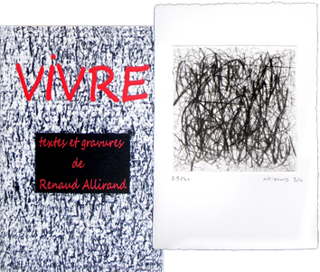 Book with etching de Allirand Renaud : Vivre