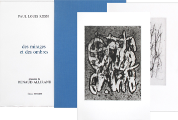 Book with etchings de Allirand Renaud : Des mirages et des ombres