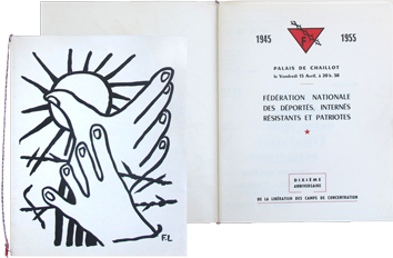 Printed document de Léger Fernand : Xth anniversary, liberation of the concentration camps