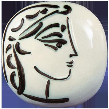 Céramique de  : Profil de Jacqueline