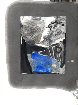 Technique mixte avec collage de  : Composition VI