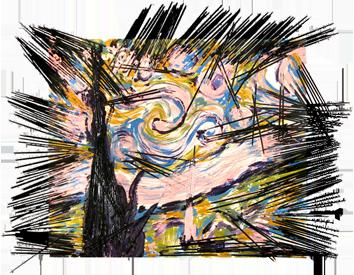 Oeuvre unique de  : La nuit étoilée, Van Gogh