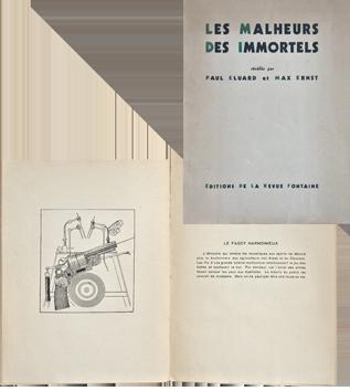 Livre avec reproductions de  : Les Malheurs des Immortels