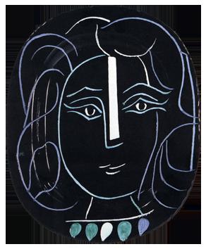 Céramique de  : Visage de femme