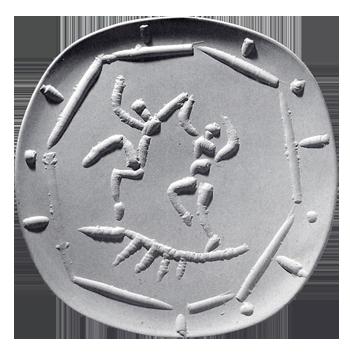 Ceramic de  : Two dancers