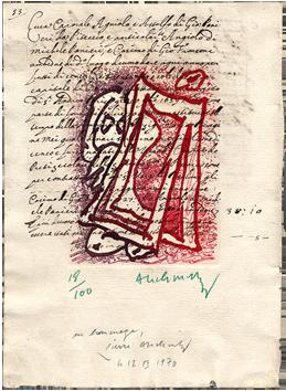 Original signed etching de  : Hoirie-Voirie