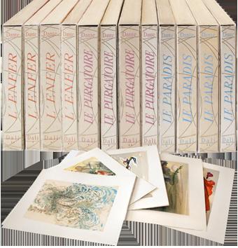 Incisioni su legno de  : La Divina Commedia, 12 volumi