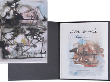 Book with screenprint de  : Carnets de voyages