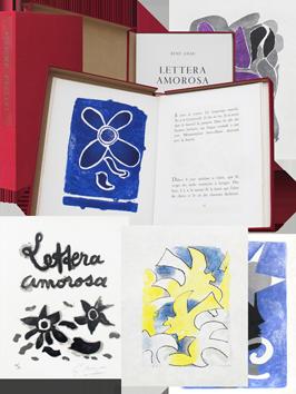 Livre avec lithographies de  : Lettera Amorosa I