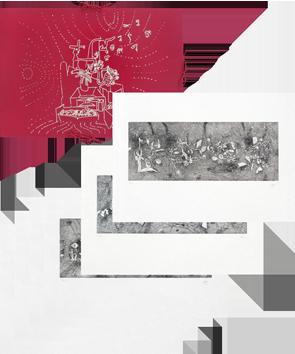 Portfolio avec gravures de  : Le Verbo Hommérica, Version 2