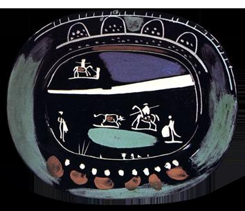 Céramique originale de  : Corrida verte