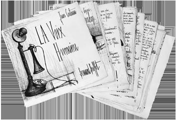 Livre avec gravures de  : La Voix Humaine