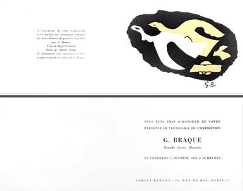 Lithographie de  : Deux oiseaux