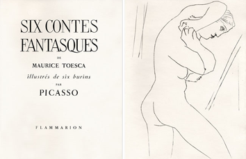 Illustrated book de Picasso Pablo : Six contes fantasques