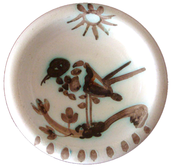 Madoura ceramic de  : Bird under the sun, Madoura